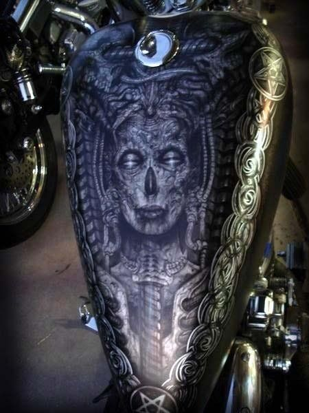 Airbrush by rick westcott at voodoo tattoo and artworx for Airbrush tattoo paint