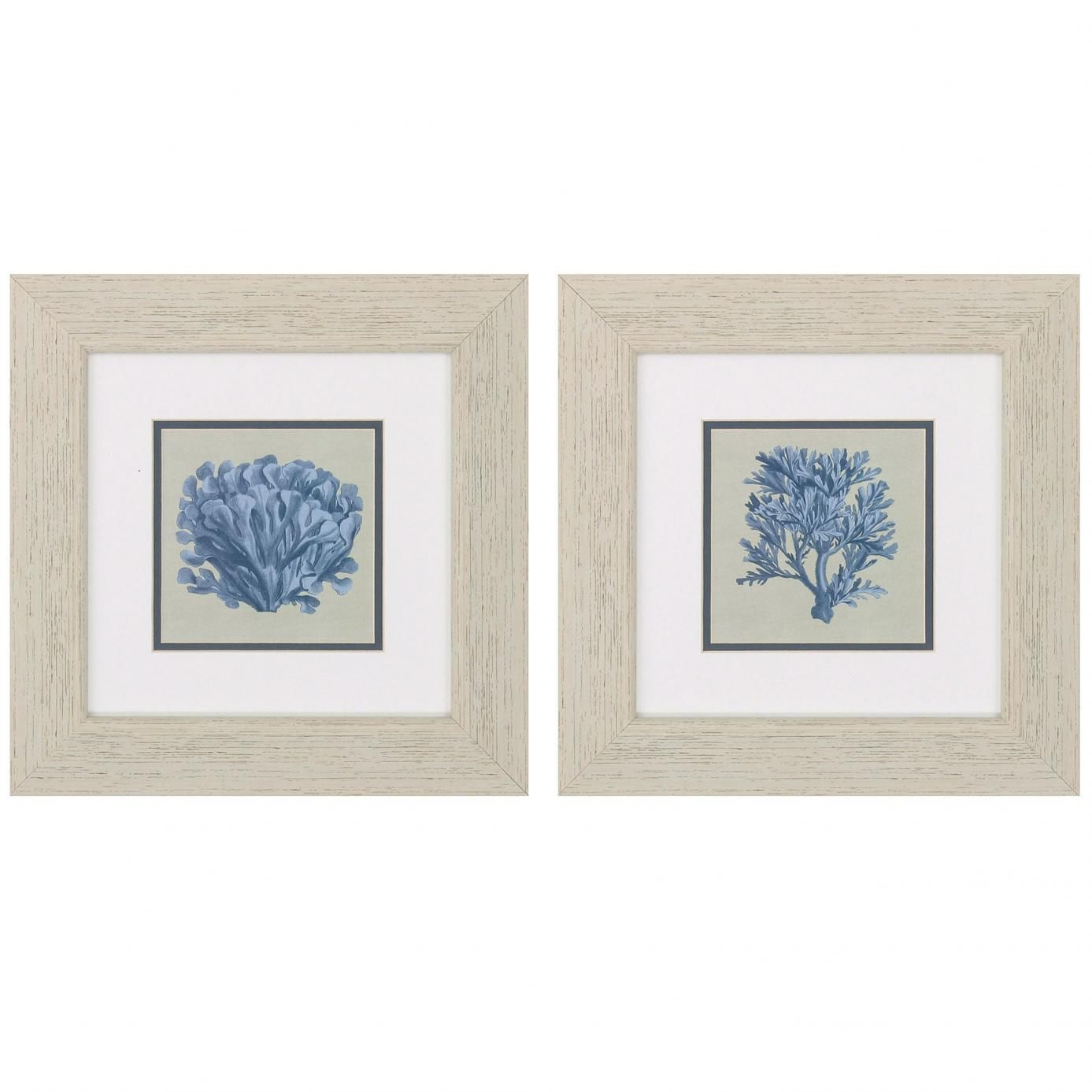 Propac Chambray Coral Wall Art Set Of 2 - Furniture