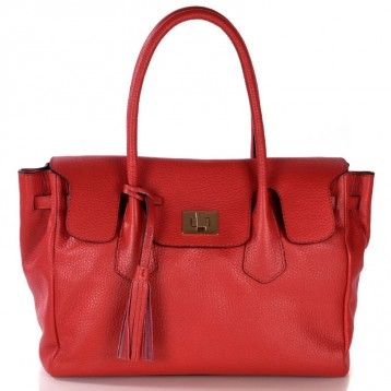 Sac à main en cuir LOXWOOD cuir rouge