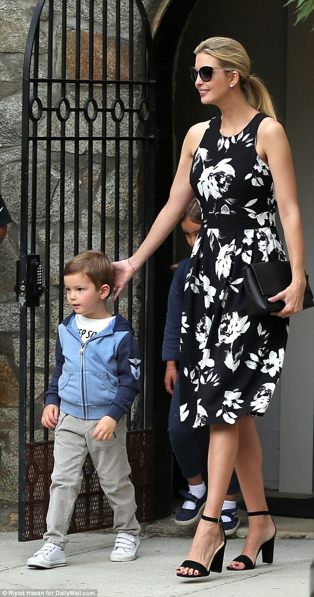Ivanka Trump takes Joseph for last day of school | Ivanka trump, Wednesday  morning and Face