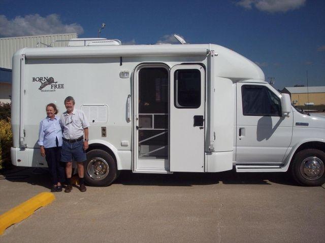 Born Free 22 Rear Side Kitchen Class C Rv Recreational Vehicles Chinook