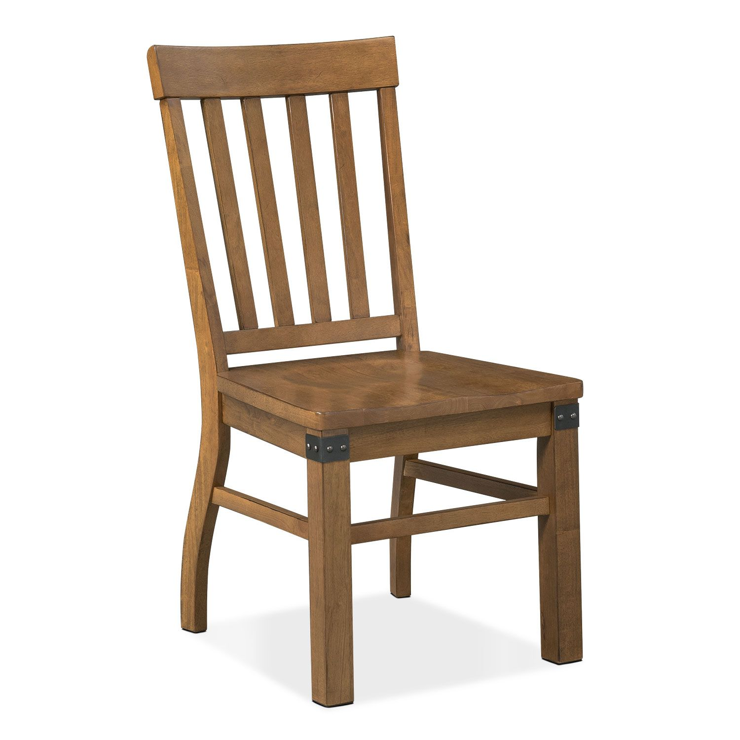 Dining Room Furniture Salem Side Chair Pecan Dining Chairs