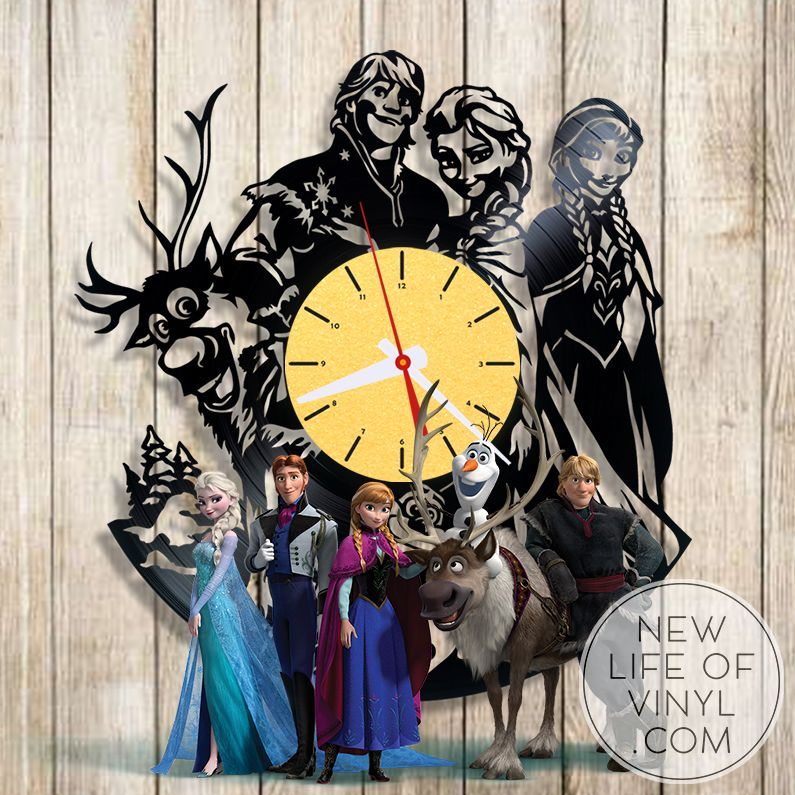 vinyl #clocks with #frozen | Vinyl Projects | Pinterest | Clocks ...