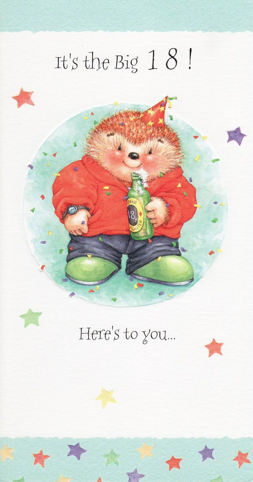 Nice Hallmark Country Companions Hedgehog /& Frog ~ Birthday card 18th Birthday