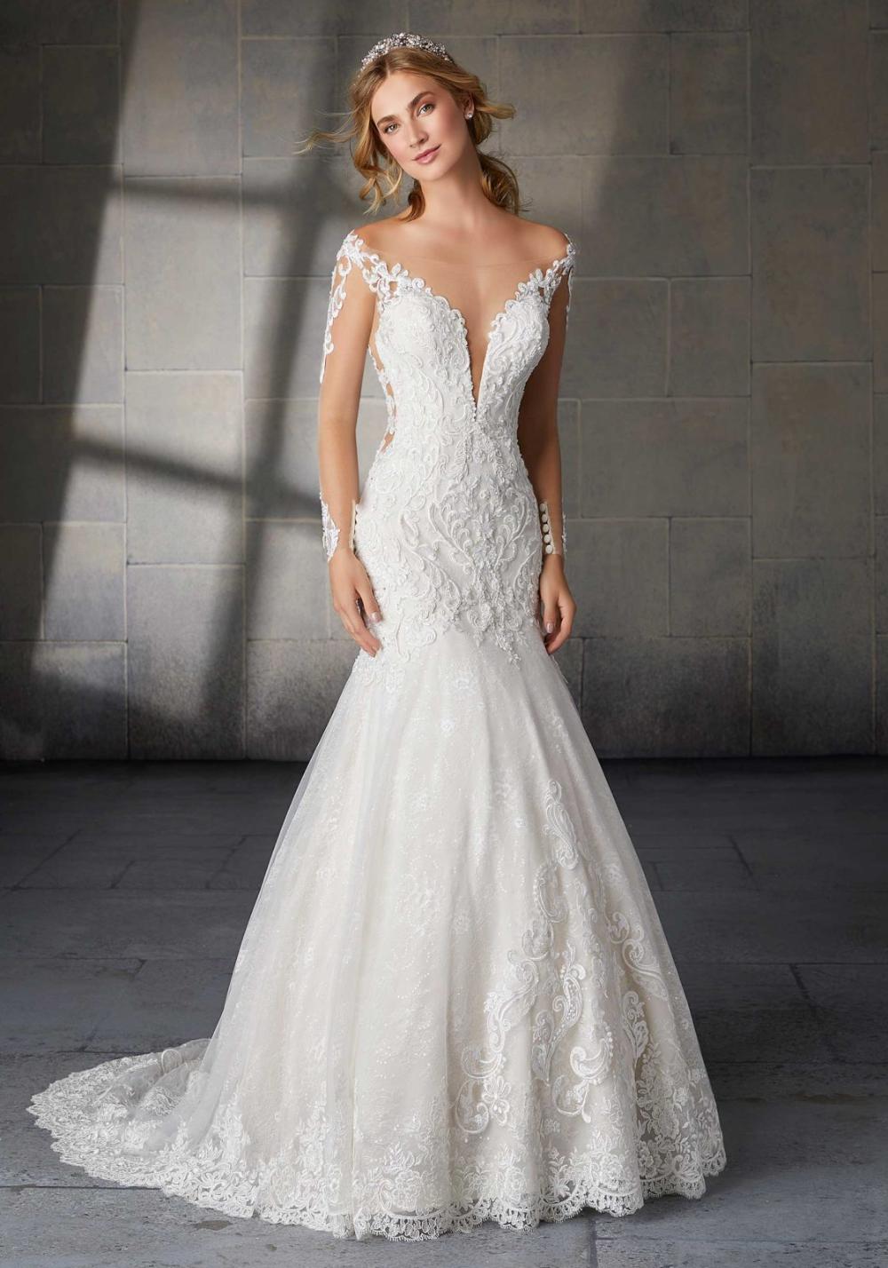 Sharon Wedding Dress Morilee In 2020 Long Sleeve Wedding