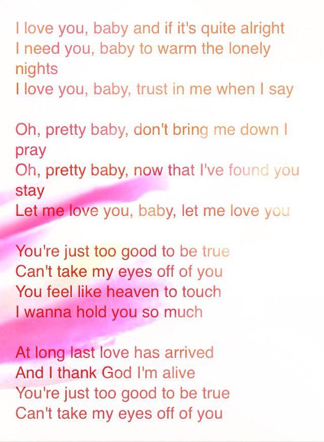 Frankie Valli I Love You Baby : frankie, valli, Frankie, Valli, &, Seasons, Yours, Lyrics,, Valli,