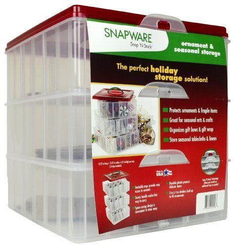 Ornament Storage Box Snapware, Snapware Ornament Storage