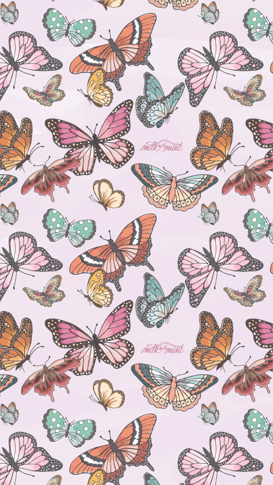 Butterfly Phone Wall