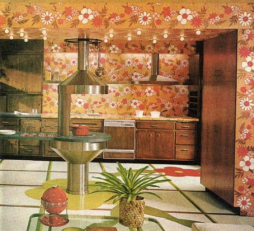 Futuristic and floral kitchen design in Good Housekeeping, July 1969 on good housekeeping bedrooms, good housekeeping fashion, good housekeeping house plans, good housekeeping furniture, good housekeeping construction, good housekeeping bookcases, good housekeeping curtains, good housekeeping bathroom design, good housekeeping dream kitchen, good housekeeping interior design, good kitchen design tips, good housekeeping office, good housekeeping outdoor kitchens, good housekeeping art, good ideas for small kitchen, good housekeeping kitchen makeover, good housekeeping room design, good housekeeping home decor, good housekeeping bathtubs, good housekeeping ideas,