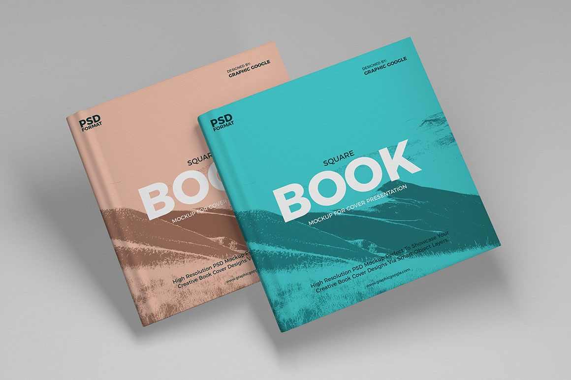 Square Book Cover Free Mockup Dealjumbo Com Discounted Design Bundles With Extended License Free Mockup Book Book Cover Mockup Brand Book