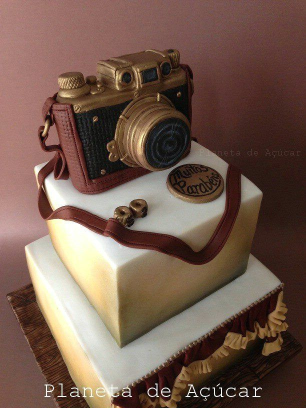 Remarkable Vintage Leica Camera Cake D With Images Camera Cakes Cake Funny Birthday Cards Online Barepcheapnameinfo