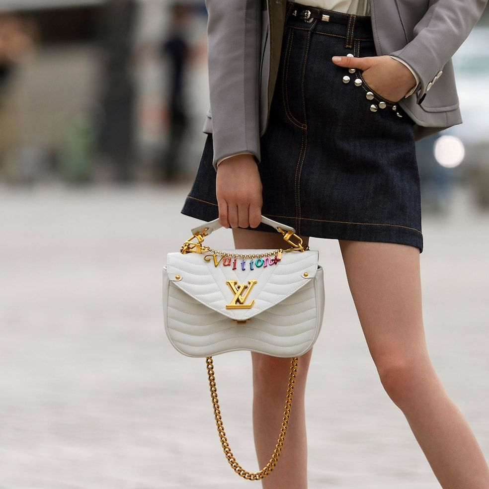 699c82ff09c1 LV New Wave Leather HANDBAGS All Handbags Louis Vuitton New Wave Chain Bag  MM