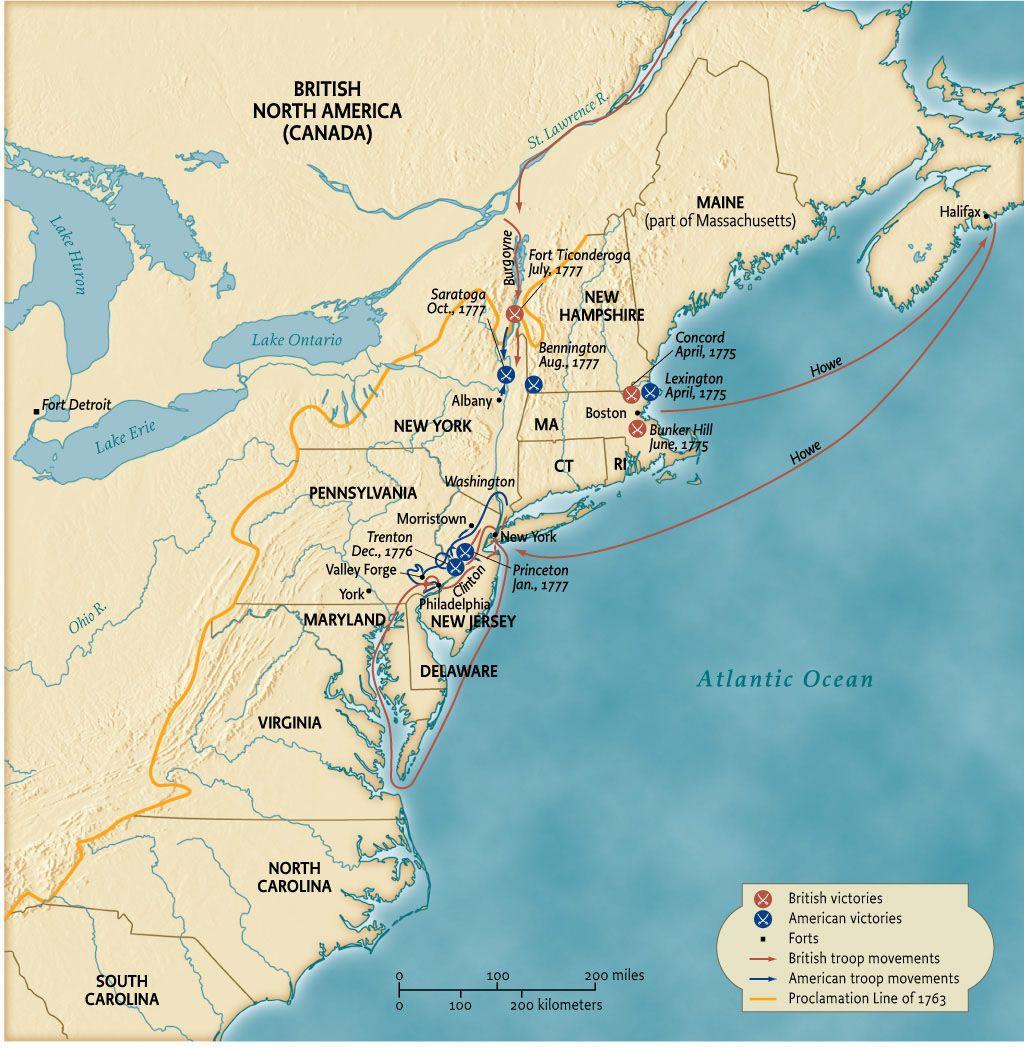 American Revolution, battles British north america, Fort