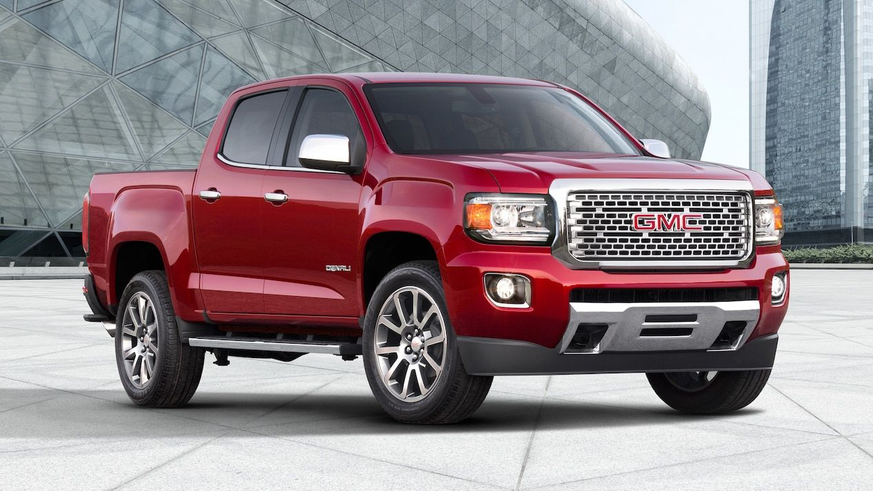 2018 Canyon Denali Small Pickup Truck In Red Quartz Gmc Canyon