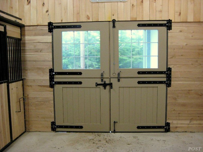 Equine Post Farm Structures Horse Barn Doors Double Barn