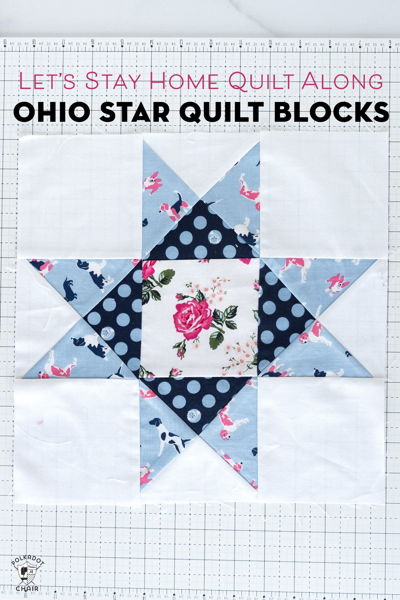 Summer Quilt Along; Ohio Star Quilt Blocks | Polka Dot Chair