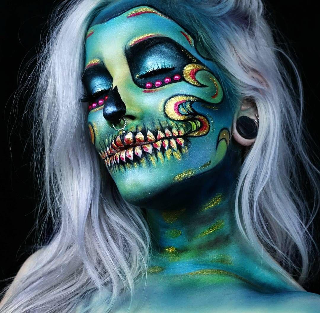 Ig Creationsbyelina Makeup Disfraces Pinterest - Maquillaje-profesional-halloween