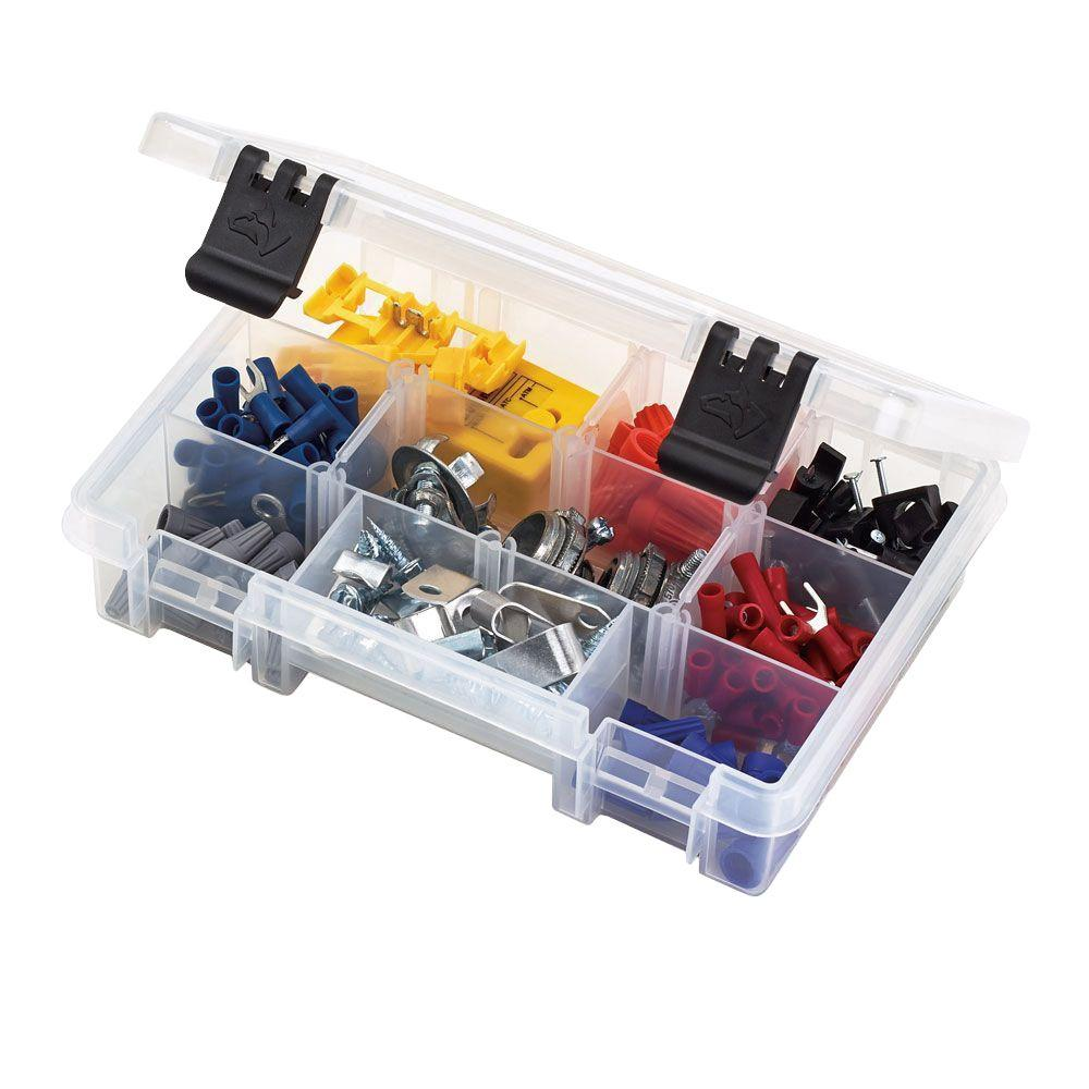 Husky 7 In 6 Compartment Small Parts Organizer Clear Small