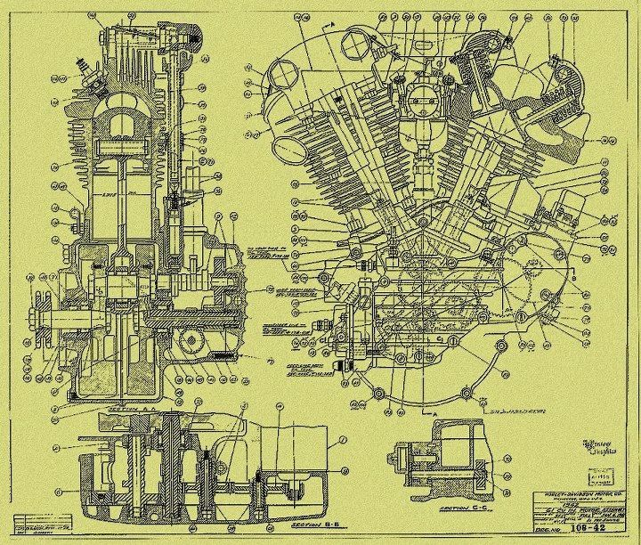 schematic of a motorcycle engine motorcycles vintage motorcycle