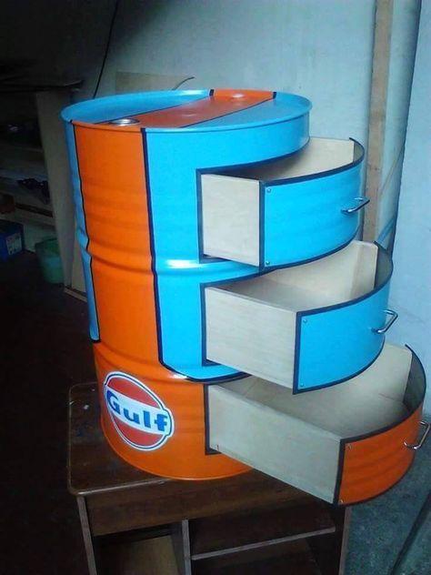 Ideas Para Reciclar Barriles De Metal Muebles De Barril