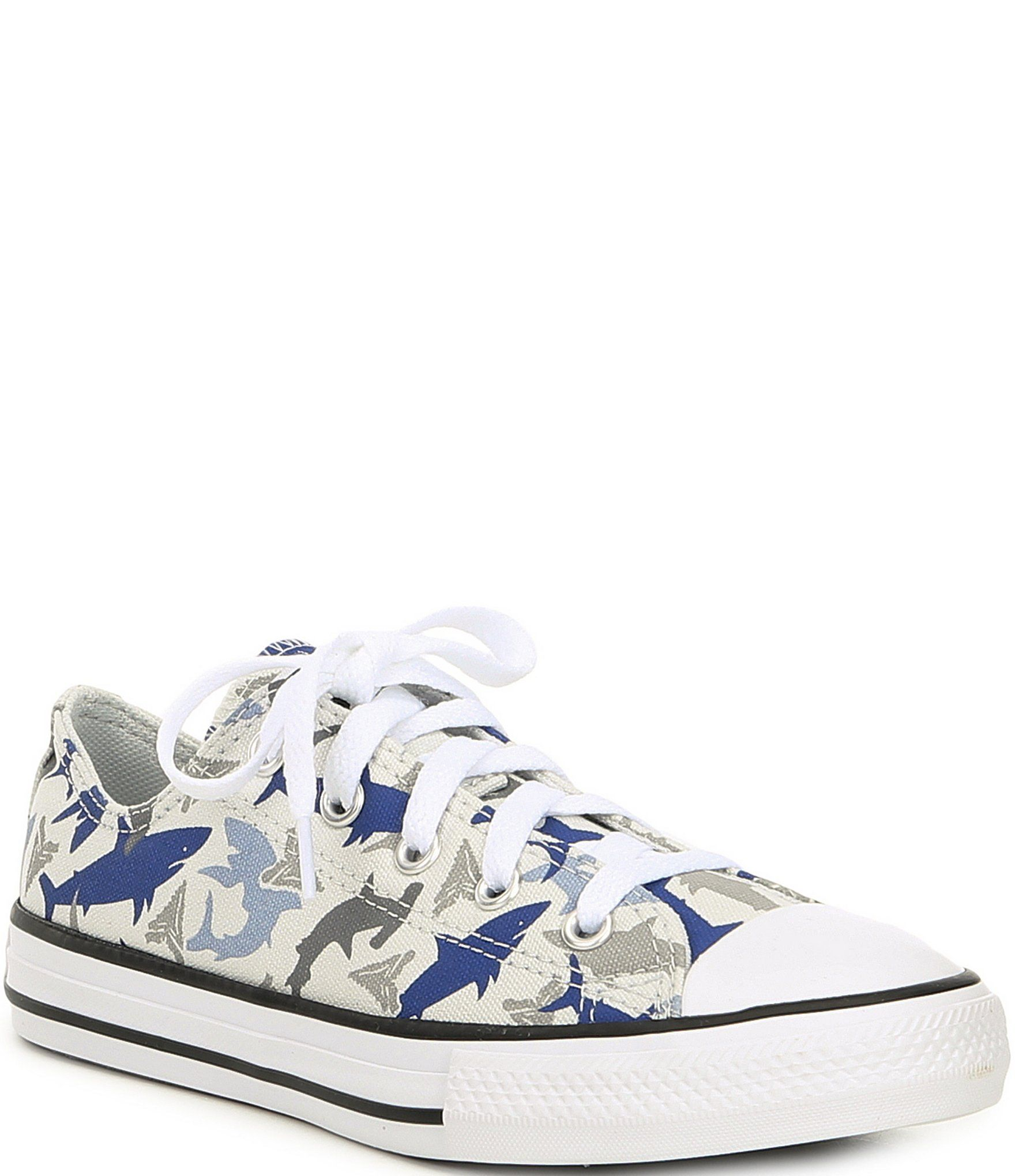 Converse Boys' Chuck Taylor All Star Shark Bite Printed Canvas Oxfords Youth - 3M Youth