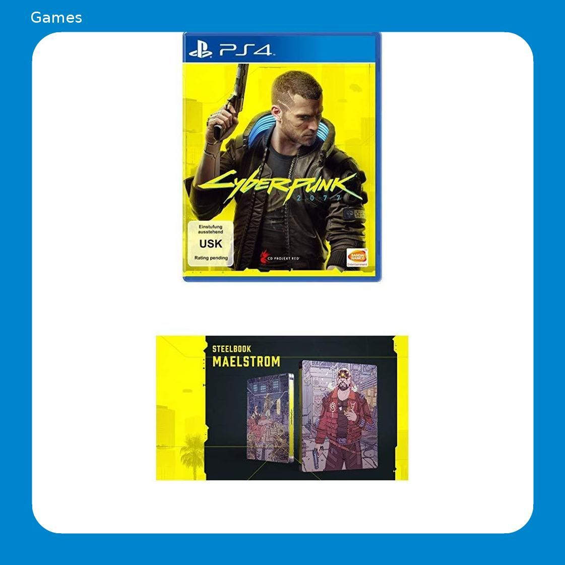 Cyberpunk 2077 Day 1 Edition Playstation 4 Cyberpunk 2077 Steelbook Maelstrom Cyberpunk 2077 Cyberpunk Playstation