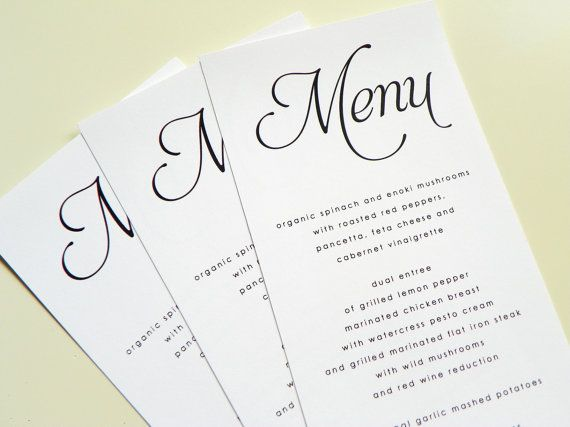 menu cards  wedding menu menu printing menu cards