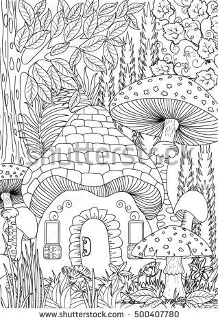 Landscape Coloring Page Fairy Coloring Pages Coloring Books Coloring Pages