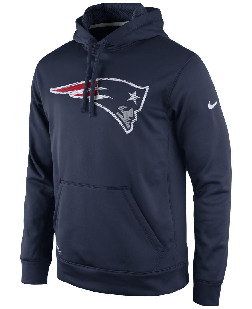 Nike Men s New England Patriots Performance Po Dri-fit Hoodie ... 806f503d4