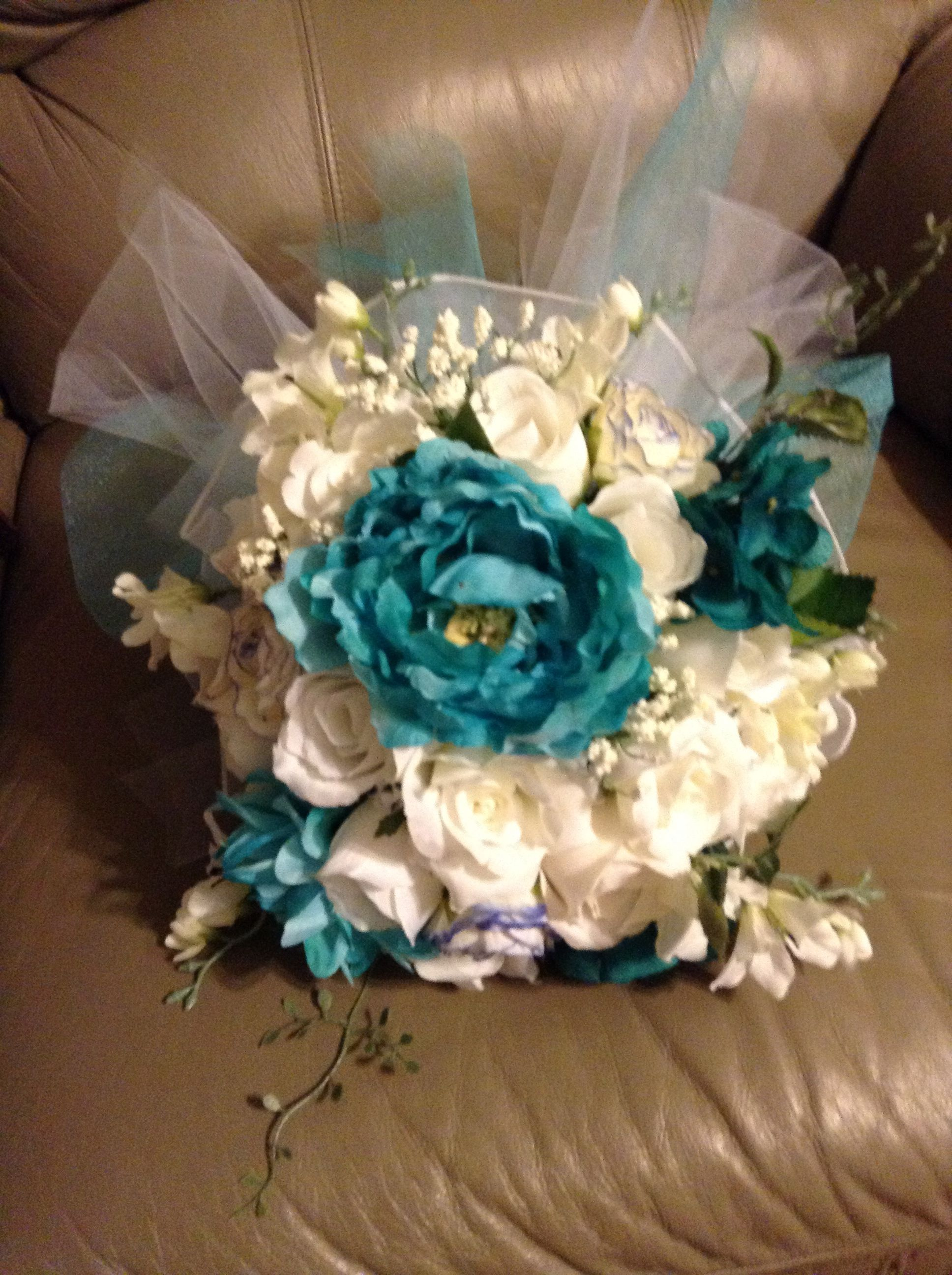 brides bouquet i used a flower form wedding section at hobby lobby to