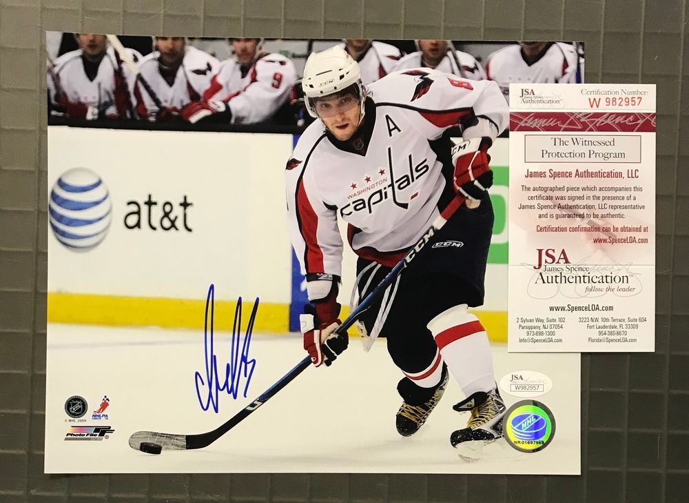 8ffe243efe8 Alexander Ovechkin Signed 8x10 Photo Autographed JSA WITNESSED COA Capitals
