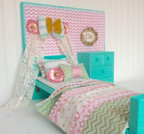Bow U0026 Banner American Girl Doll Bedroom Set 18 Doll By Head2Heart