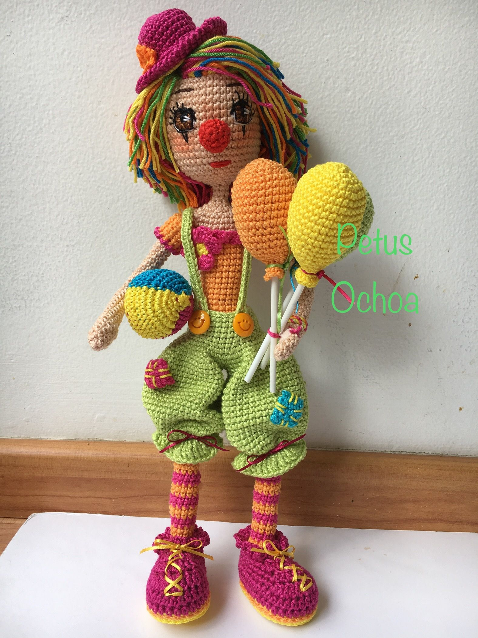 Payasa amigurumis By Petus | Ganchillo | Pinterest | Patrones ...