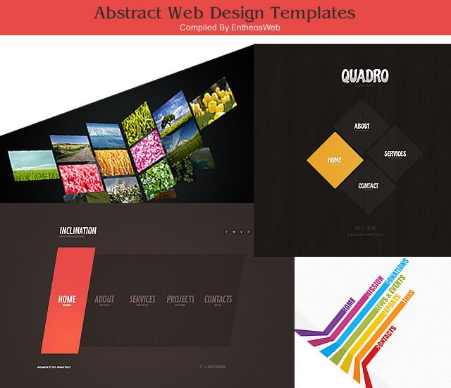 Abstract Web Design Templates Template Design Unique Website Design Web Template Design