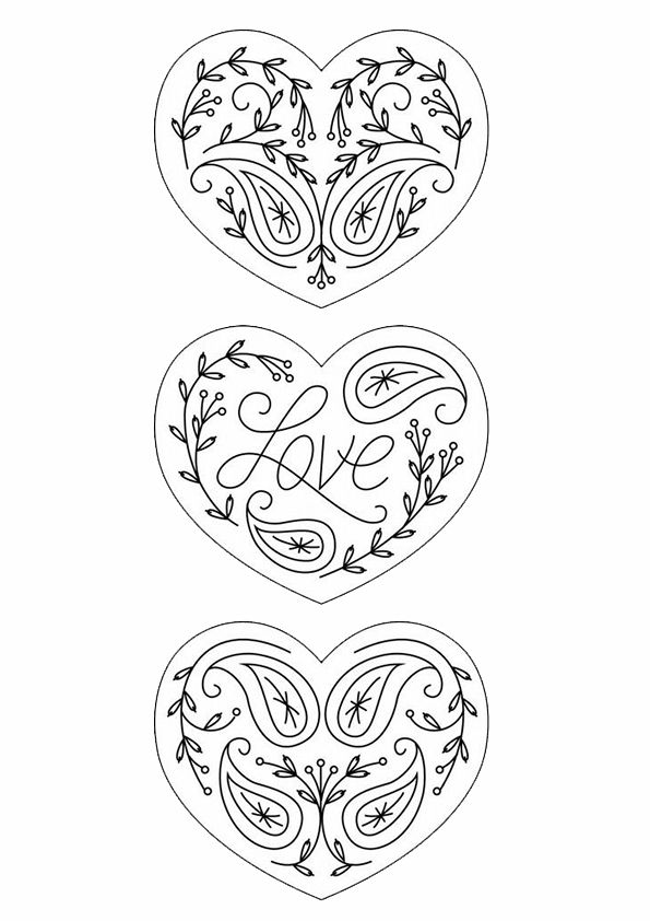 Kleurplaat hart/ valentijn/ moederdag/ vaderdag ...