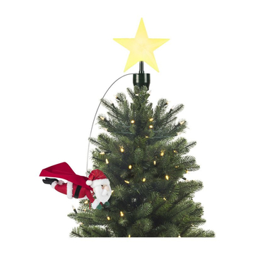 Animated Tree Topper Flying Santa Tree Toppers Holiday Decor Christmas Ornaments