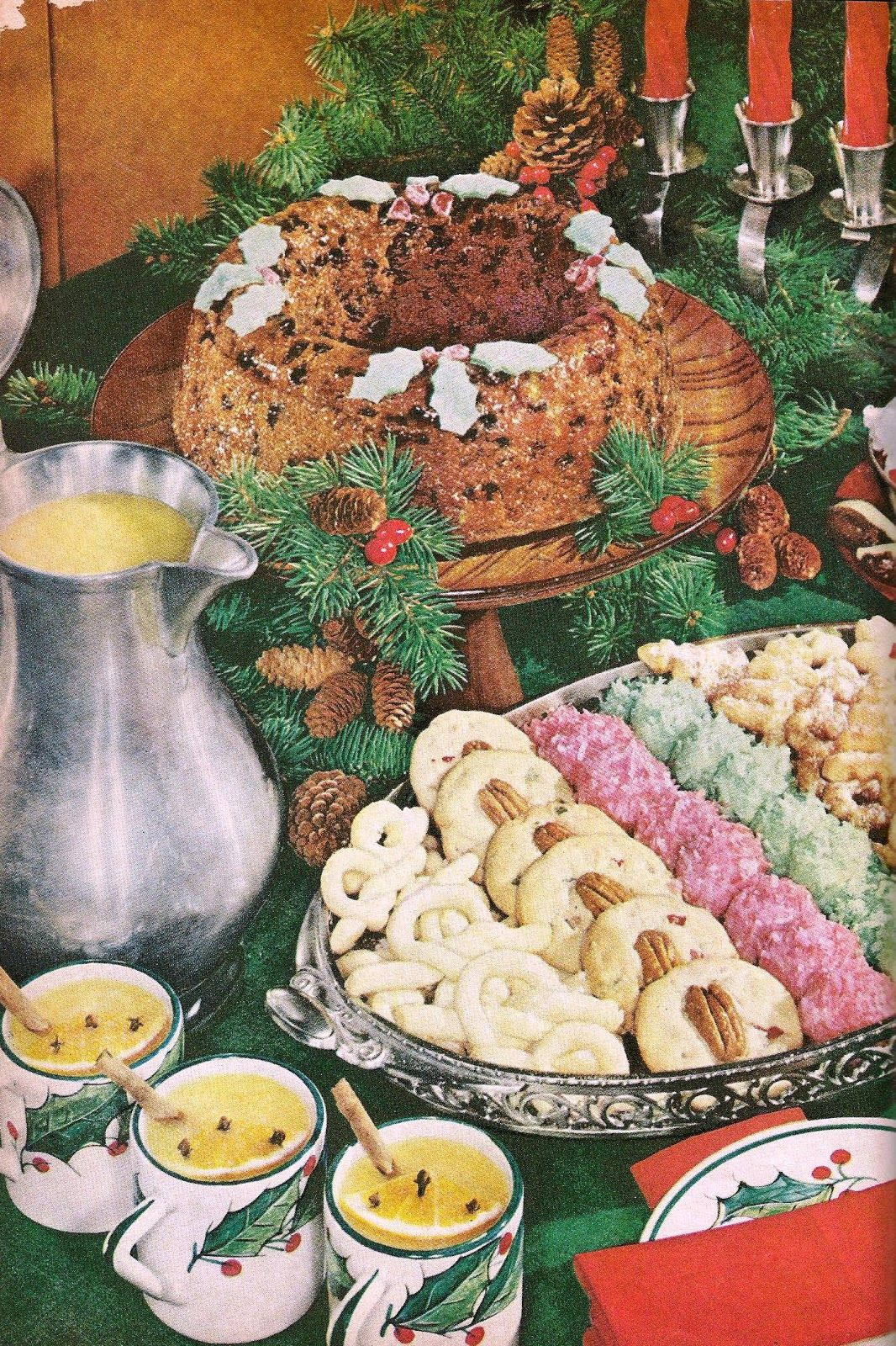 christmas sweets celebrate christmas goodies to eat or share pinterest dessert buffet vintage and retro vintage - Buffet Retro Cuisine