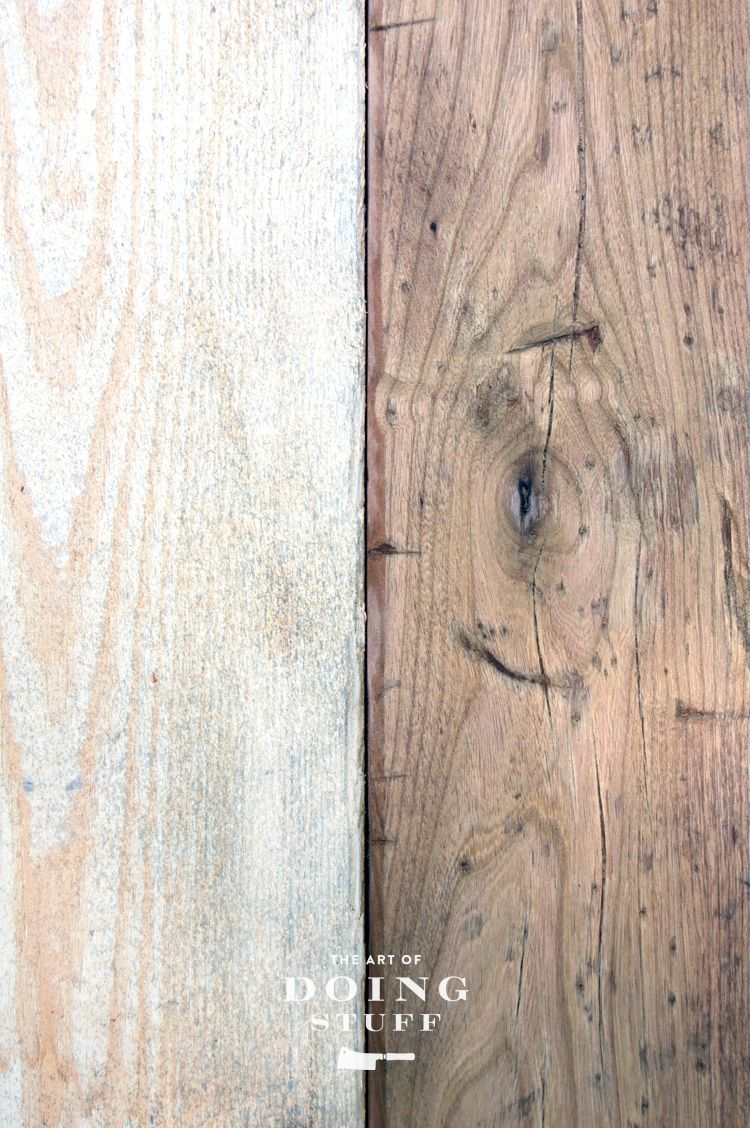 Hacking up new wood to make it look old woods diy furniture and