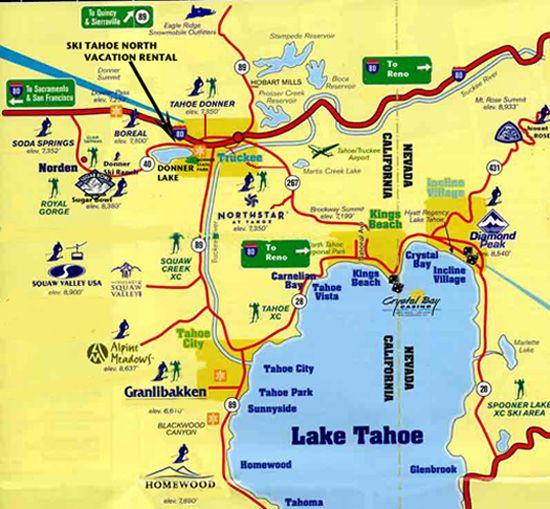 HttpwwwskitahoenorthvacationrentalcomLakeTahoeNorthski - North lake tahoe map