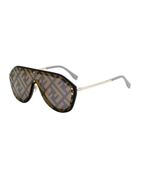 5bbe276ac7 FENDI MEN S FF SHIELD SUNGLASSES.  fendi