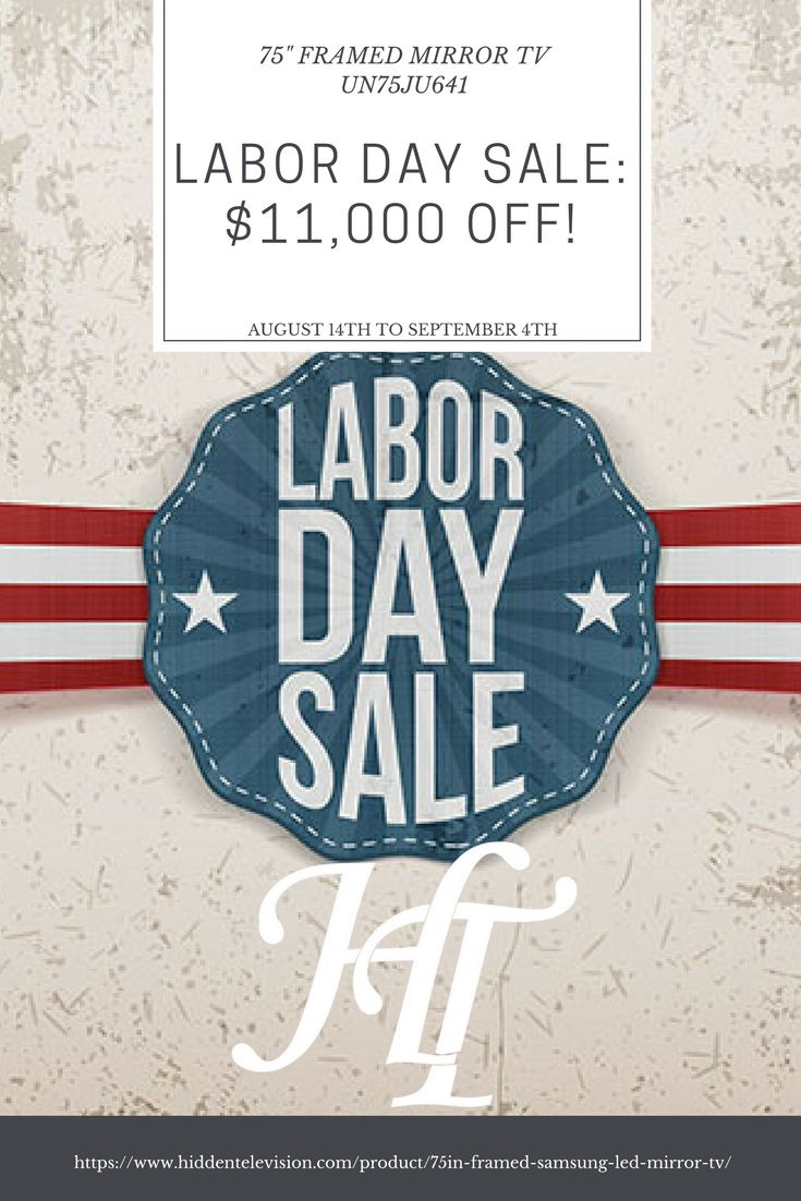 "This labor day we are offering a 75"" Samsung Framed Mirror TV for $11,000 off the list price! Get it in time for your labor day party. #laborday #sale #livingroom #bedroom #party  #luxury #ideas #goals"