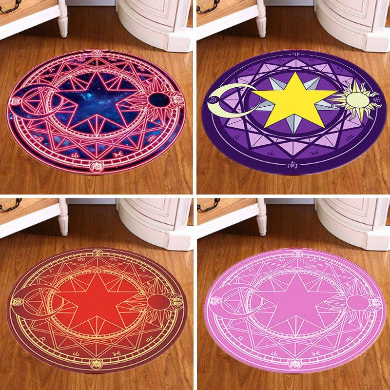 Pentagram Round Carpet Magic Circle Thin Mat Rug