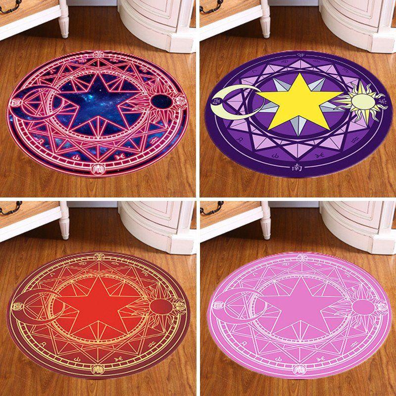 Pentagram Round Carpet Magic Circle Thin Mat Rug Pagan