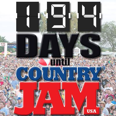 The countdown is ON! Only 194 days until Country Jam USA! Tell your friends :) #countryjamusa #cj14 #countdown