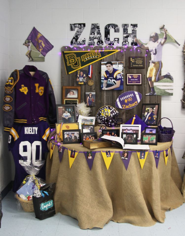 Pin By April Bourg On Signing Day Table Graduation Diy Graduation
