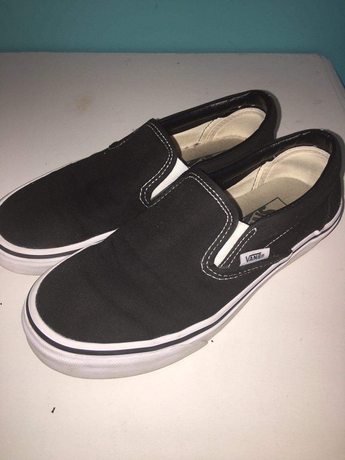 Vans, Slip on sneaker, Black slip ons