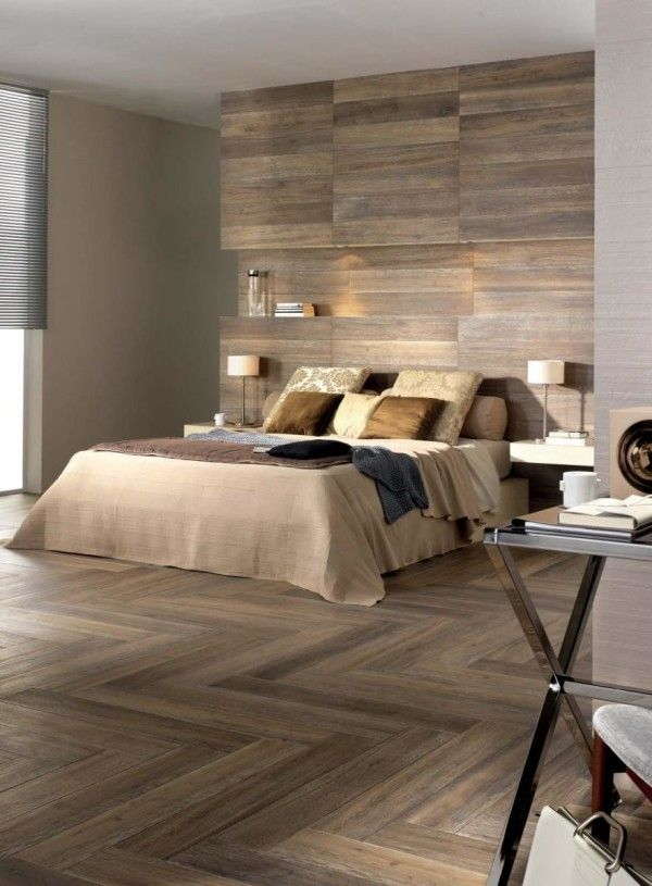 Laminate flooring on walls for a warm and luxurious feel of the ...