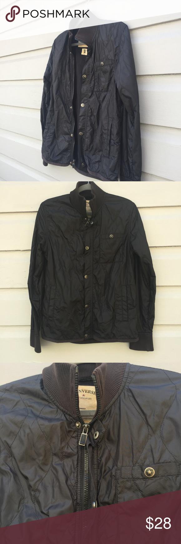 4e9bc4643053 Vintage Women s Converse Black Jacket Large