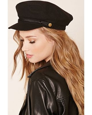 5457c5a7814ec FOREVER21 FOREVER21 Black Cabby Hat from Forever 21