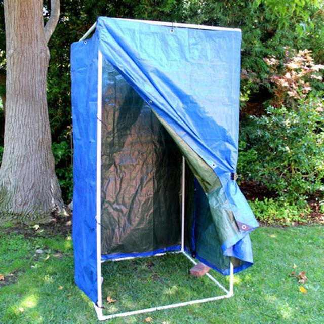 How to Make a Homemade Camping Shower Camp shower